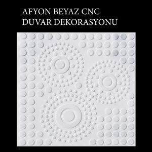 Afyon Beyaz CNC Duvar Dekorasyonu
